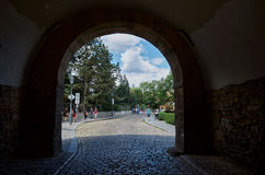 cesky τσεχική πόλης όψη δημοκρατιών krumlov μεσαιωνική παλαιά Οι οδοί Vysehrad στην Πράγα 18 Ιουνίου 2016 Στοκ εικόνες με δικαίωμα ελεύθερης χρήσης