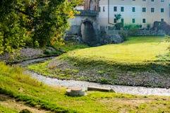 cesky τσεχική πόλης όψη δημοκρατιών krumlov μεσαιωνική παλαιά Πόλη Cesky Krumlov Στοκ Φωτογραφίες