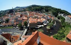 cesky τσεχική όψη δημοκρατιών krumlov Στοκ φωτογραφίες με δικαίωμα ελεύθερης χρήσης