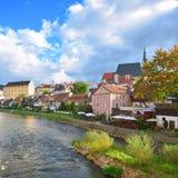 Cesky Crumlaw on the Vltava River Stock Photo