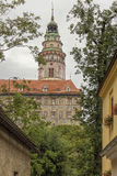 Cesky Keumlov, cidade histórica 160 quilômetros ou 100 milhas ao sul de Praga, Czec Fotos de Stock