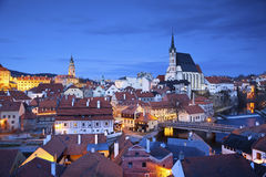 Cesky Kromlov, Δημοκρατία της Τσεχίας. Στοκ Εικόνες