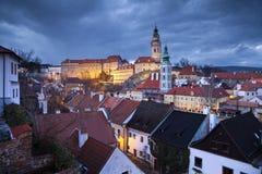 Cesky Kromlov, Δημοκρατία της Τσεχίας. Στοκ Φωτογραφία