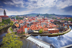Cesky Kromlov, Δημοκρατία της Τσεχίας Στοκ φωτογραφίες με δικαίωμα ελεύθερης χρήσης