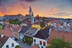 Cesky Kromlov, Czech Republic. Stock Photo