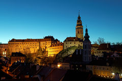 Cesky Kromlov in nights , Czech. Royalty Free Stock Photos