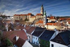 Cesky Kromlov, République Tchèque. Photo stock