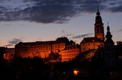 Cesky Krumlov城堡 免版税库存图片