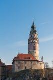 Cesky Krumlov城堡 库存照片