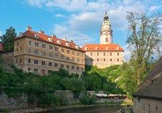 Cesky krumlov城堡 库存图片