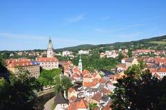 Cesky Krumlov †'piękny miasteczko w południowym Bohemia, republika czech fotografia stock