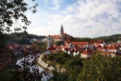 Cesky Krumlov και ποταμός Στοκ φωτογραφίες με δικαίωμα ελεύθερης χρήσης