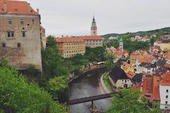 Cesky Krumlov, περιοχή παγκόσμιων κληρονομιών της ΟΥΝΕΣΚΟ, Τσεχία Στοκ εικόνα με δικαίωμα ελεύθερης χρήσης
