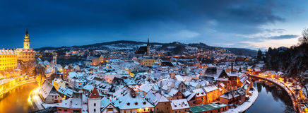 Cesky Krumlov, χειμώνας Στοκ εικόνες με δικαίωμα ελεύθερης χρήσης