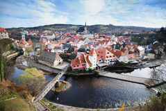 Cesky Krumlov. View of Cesky Krumlov a city in the Czech Republic Stock Photo