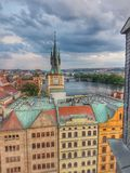 взгляд городка республики cesky чехословакского krumlov средневековый старый стоковые фотографии rf
