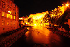 Cesky Krumlov. In the night, Czech republic Stock Photography