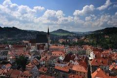 Cesky Krumlov. Roofs of the historical city of Cesky Krumlov, Czech Republic Royalty Free Stock Photography