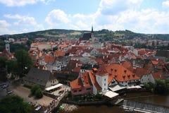 Cesky Krumlov. Roofs of the historical city of Cesky Krumlov, Czech Republic Stock Photography