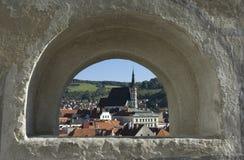 Cesky Krumlov alte Stadt stockfoto