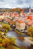 Cesky Krumlov in autumn Stock Photo