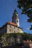 Cesky Krumlov Bell Tower Stock Photo