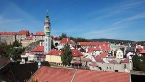 Cesky Krumlov, Bohemia. The Český Krumlov castle. Cesky Krumlov is a small city in the South Bohemian Region of the Czech Republic where Český Krumlov Castle stock video