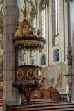 CESKY KRUMLOV, BOHEMIA/CZECH republika - WRZESIEŃ 17: Ambona wewnątrz Fotografia Stock