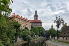 CESKY KRUMLOV, BOHEMIA-/CZECHREPUBLIK - SEPTEMBER 17: Folk Ca Arkivfoto