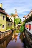 Cesky Krumlov canal Stock Image