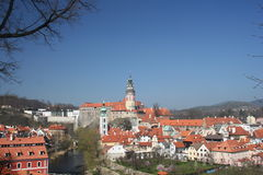 Cesky Krumlov castle royalty free stock photo