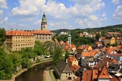 Cesky Krumlov castle Stock Image