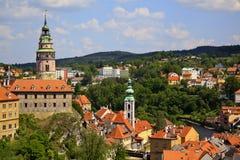 Cesky Krumlov castle Stock Images