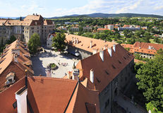 Cesky Krumlov Castle in Czech Republic. Royalty Free Stock Images