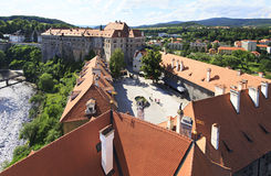 Cesky Krumlov Castle in the Czech Republic. Stock Images