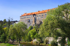 Cesky Krumlov castle Stock Photo