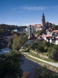 Cesky Krumlov - castle near river Vltava Royalty Free Stock Images