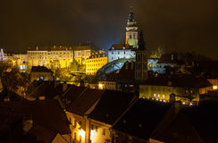Cesky Krumlov Castle night view Royalty Free Stock Photography