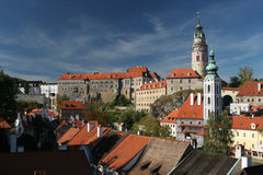 Cesky Krumlov Castle in South Bohemia Stock Image