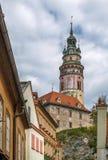 Cesky Krumlov castle tower, Czech republic Stock Photography