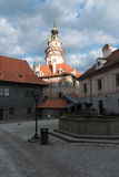 Cesky Krumlov - castle tower Royalty Free Stock Photography