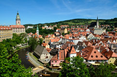 Cesky Krumlov Castle and town Stock Images