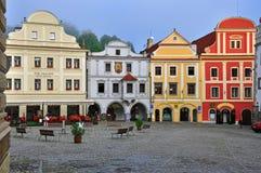 Cesky Krumlov central square Stock Images