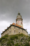 Cesky Krumlov Chateau Tower 1 Royalty Free Stock Photography