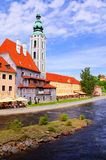 Cesky Krumlov church Royalty Free Stock Photos