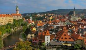Cesky Krumlov. City of Cesky Krumlov, old heritage city of Europe royalty free stock photography