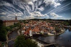 Cesky Krumlov, ciudad vieja Foto de archivo libre de regalías