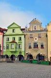 Cesky Krumlov colorful houses Royalty Free Stock Photos