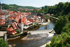 Cesky Krumlov, Czech. Summer 2011 Royalty Free Stock Photo