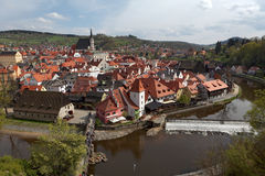 Cesky Krumlov in the Czech Royalty Free Stock Photo